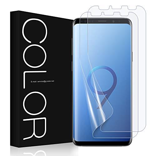 G-Color Displayschutzfolie für Samsung Galaxy S9, TPU-Folie, Nassanbringung, ohne Luftblasen, 2 Stück