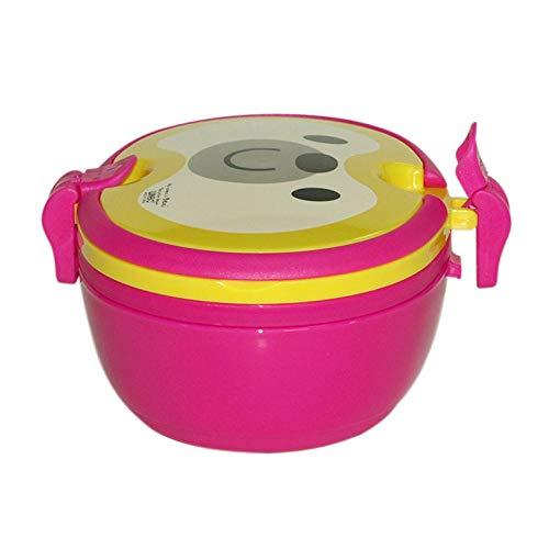 Gaoxiaolong Lunch Box In Plastica A Doppio Strato Ecocompatibile Con Maniglie Ellittiche Conveniente Lunch Box Per Studenti @ 501-800Ml_Doppio Strato