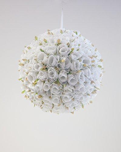Rose parfumée Boule de fleurs 30 cm 2 couleurs Diamètre Mariage Centre de table 30cm blanc