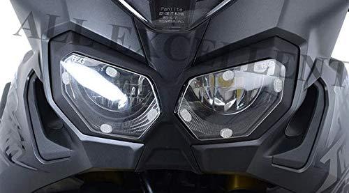 Ayouyue Para CRF1000L 2016-2017 2018 2019 CRF 1000L Cubierta de la pantalla de los faros delanteros Escudo Protector Lente Protector para África Twin (clear)