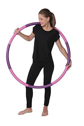 LSYP DG Sports 3 Libras Peso Hula Hoop - Ideal para Entrenamientos de aeróbic, Fitness Caliente & Ejercicio de pérdida de Peso - Se aparta para un fácil Almacenamiento