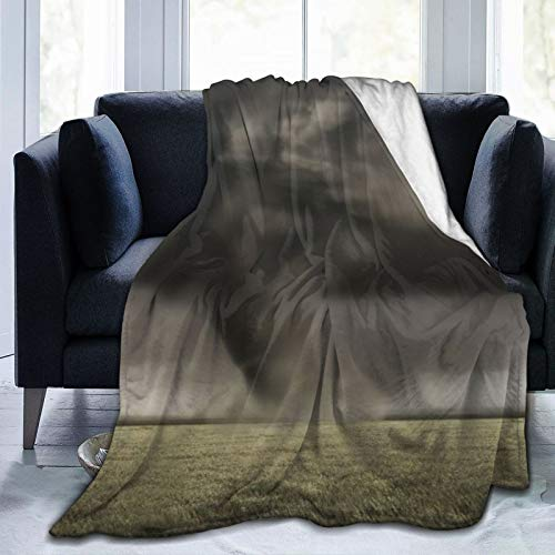 AIKIBELL Ultra-Soft Micro Fleece Blanket,A Large Tornado Working Its Way Across Fields,Home Decor Warm Throw Blanket for Couch Bed,50'X 40'
