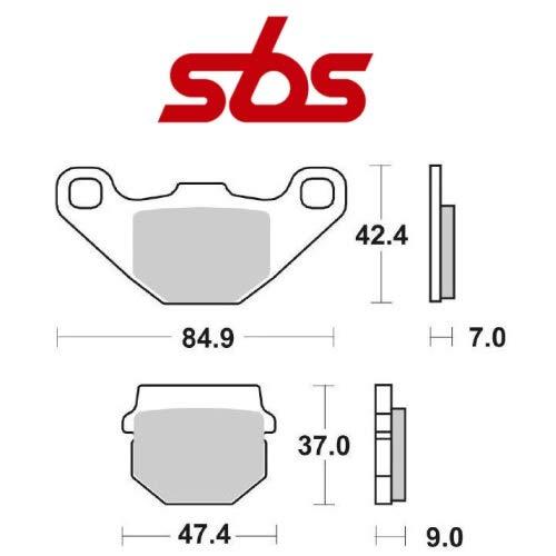 Compatible con DAELIM ST Sector Quad 250 2005-2006 PASTIGLIA Freno anteriore DX-sx Pastillas DE Freno SBS 101HF CERÁMICO