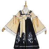 W.Z.H.H.H Traje de Criada Vestido de Lolita Vestido de Estilo japonés Vestido Victoriano Negro Mujeres Kawaii Ropa Lolita jsk Chicas Lindas (Color : Full Set, Size : XXXL)