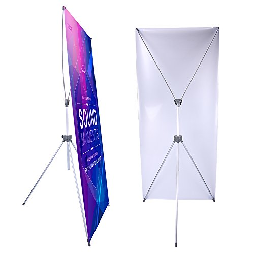 Adjustable X Banner Stand Fits Any Banner Size Width 23
