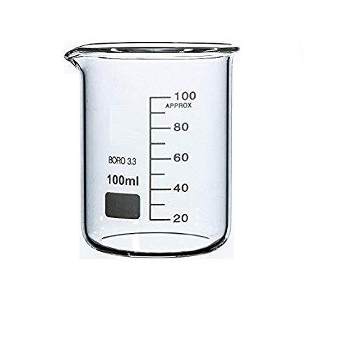 Rocwing - Boro 3.3 Glas Messbecher für Labor (100ml)