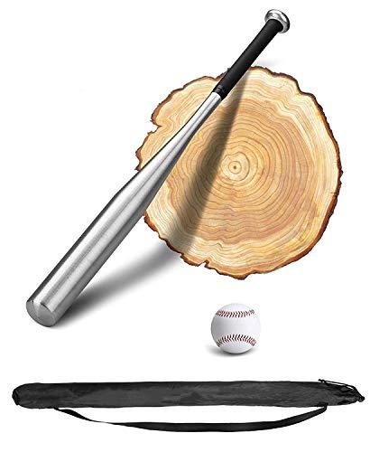 Bate beisbol PLUSINNO 28 pulgadas de madera / aluminio de béisbol con béisbol