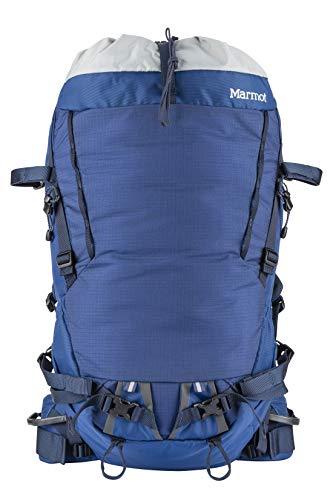 Marmot Eiger 32 Ultra léger, Sac a Dos de randonnée, capacité de 42 L, idéal pour Trekking et Voyager Mixte Adulte, Estate Blue/Total Eclipse, FR Unique (Taille Fabricant : 32 l)