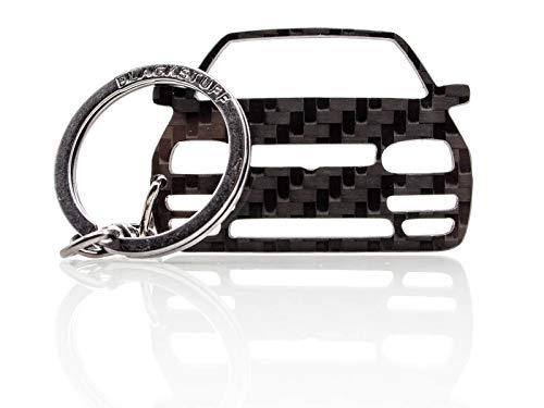BlackStuff Carbon Karbonfaser Schlüsselanhänger Kompatibel mit Golf GTI Mk3 1991-1997 BS-850