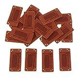 MagiDeal Etiquetas de Cuero de PU de 20 Piezas DIY Coser en Etiquetas, Bolsos, Zapatos, Parches - 005, Individual
