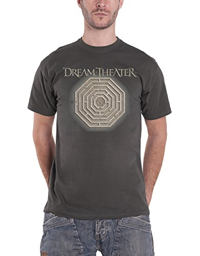 Dream Theater T-shirt Maze labyrinth band logo officieel heren nieuw grijs