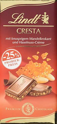 Lindt Cresta, Promotion, Premium Schokolade mit knusprigem Mandelkrokant und Praliné-Creme, 6er Pack (6 x 100 g)