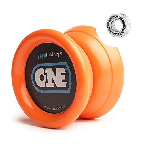YoyoFactory ONE Yo-Yo - ORANGE (Vom Anfänger Zum Profi, Moderne Leistung YoYo, Metall Kugellager, Schnur und Anleitung Enthalten)
