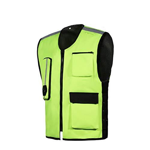 haozai Riding Opblaasbaar Anti-fall Vest Heren Motorvest Trigger De Airbag In 0,2 seconden ter bescherming van de rijveiligheid Slijtvast en scheurzacht, gemakkelijk schoon te maken