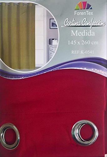 ForenTex - Cortina Opaca (K-0541), Rojo, 145 x 260 cm