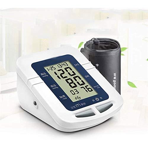 WRJ Oberarm-Blutdruckmessgerät USB Aufladbar, Elektronisches Blutdruckmessgerät Automatische Messung Und Herzfrequenz Große Manschette LED-Bildschirm,1