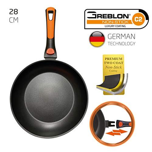 BERELA HOME ROCKMAG II Sartén con Mango Desmontable 28 cm de diámetro, Sartén Greblon Antiadherente Eco PFOA Free con tecnología Alemana.