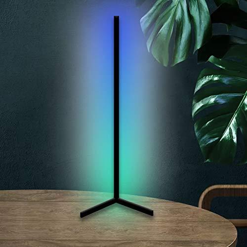 Moderna Lámpara de Mesa, Cambia de Color RGB Lámpara de Escritorio para Juegos de Esquina por Remoto Regulable Luz Calida Lámpara Minimalista para Sala de Estar