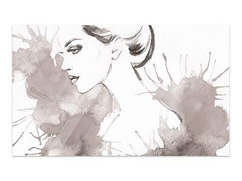 GRAZDesign glazen foto's vrouw - glazen afbeeldingen zwart wit - afbeeldingen op glas slaapkamer / 100934 60x40cm
