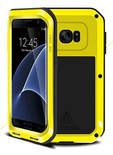 Funda LOVE MEI para Samsung Galaxy S7 Edge, metal de aluminio híbrido y silicona, impermeable y a prueba de golpes