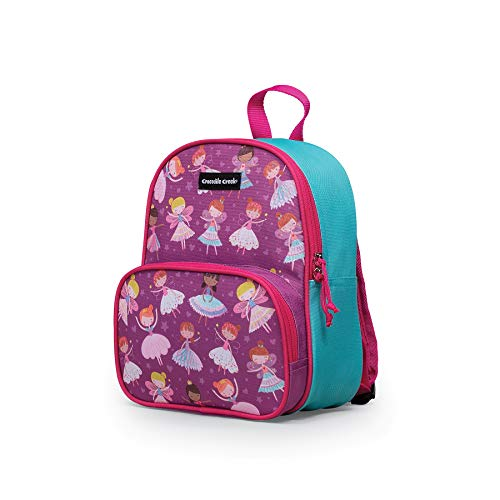Crocodile Creek - Dancers & Dreams - Junior Backpack - with Front Zippered Pockets & Padded Straps - Sized for Toddlers & Kids Ages 3 & Up