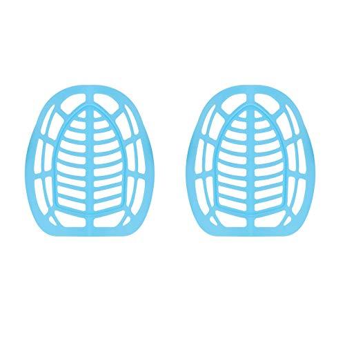 (1/2/5/10 Stück) 3D-Silikagel, blaue Gesichtsmaske, innere Stützrahmen schafft mehr Atemraum, um zu helfen, atmen, Halterung schützt Make-up (2 Stück)