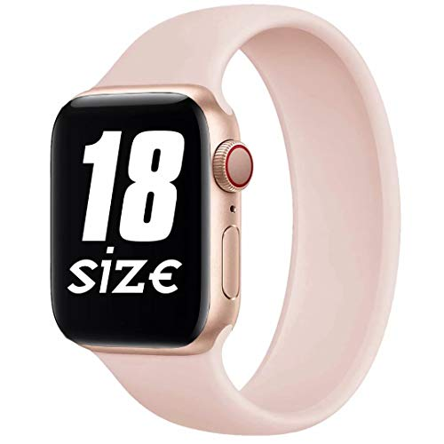 Fengyiyuda Solo Loop Correa Compatible con Apple Watch 38mm 40mm 42mm 44mm,Correa con Suave Silicona de Repuesto Compatible Iwatch Serie 6/SE/5/4/3/2/1