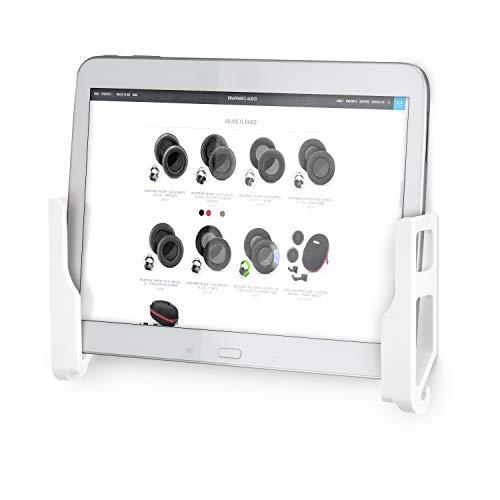 Brainwavz Universal-Wandhalterung für iPad Air Mini & Pro, Galaxy Tab Note, Surface & iPhone, Pixel & mehr, 3M VHB, keine Schrauben, Weiß