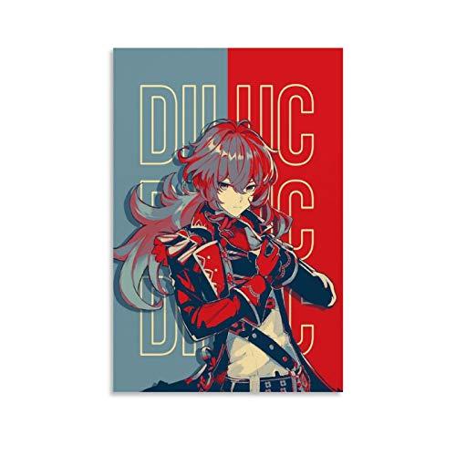 YGHJK Genshin Impact Anime Diluc - Póster de pared y póster moderno para...