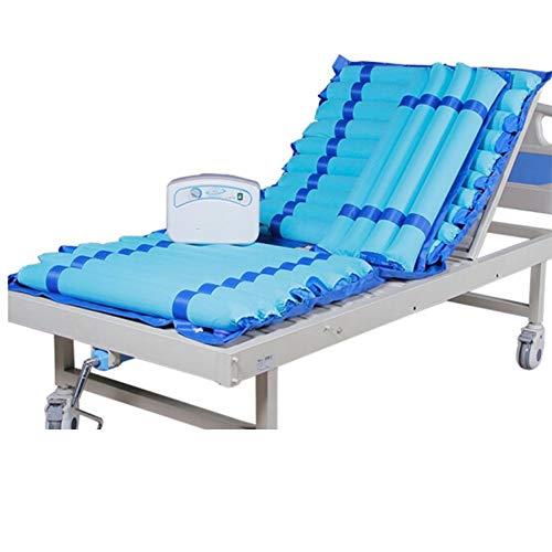 Nicekko Decubitusmatras, wisselende schommelingen, massage met luchtpomp en afneembaar design, met dubbele luchtdoorlating, 195 x 90 cm, geschikt voor ziekenhuisbed