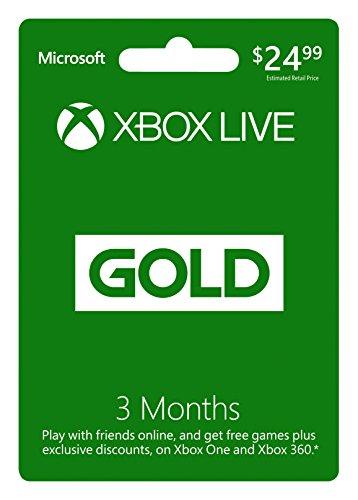 Microsoft Xbox Live Gold - 3 meses - código 25 dígitos
