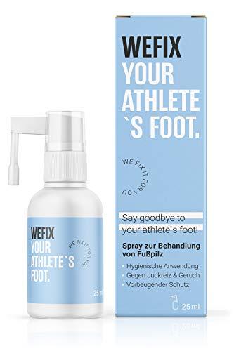 WeFix Anti Fusspilz Spray | 25 ml Athlete Foot Spray | Hygienische Alternative zu Fußpilz Creme | Fusspilz Behandlung mit vorbeugendem Schutz