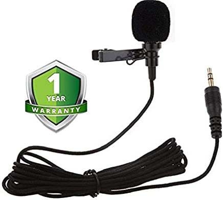 Forestone Zaptin M1 Lavalier Microphone for Smartphones, Canon, Nikon DSLR Cameras and Camcorder
