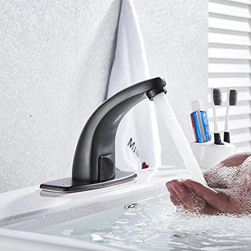 FGHHT Baño Fregadero infrarrojo automático Manos sin contacto Sensor de grifo libre Grifo Mezclador eléctrico inductivo de ahorro de agua fría y caliente