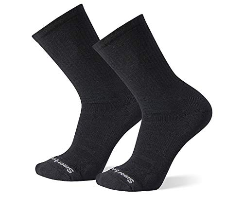 Smartwool Men's Athletic 2 Pack Crew Light Elite Merino Wool Socks, Black, Small