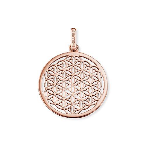 Engelsrufer flor de la vida colgante para las mujeres 925 esterlina plata oro rosa plateado 33 mm