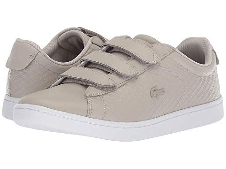 [ラコステ] レディーススニーカー?靴?シューズ Carnaby Evo Strap 418 1 Grey/White US 10 (27cm) M [並行輸入品]