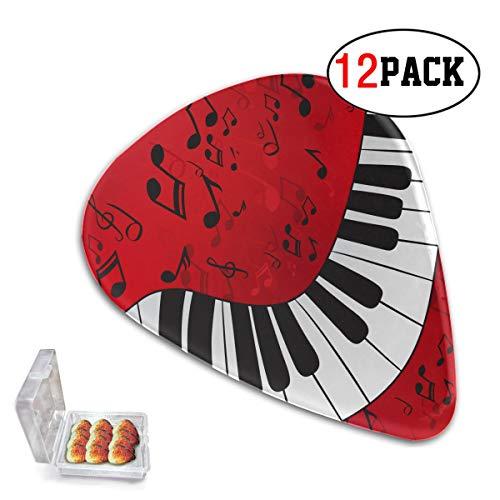 Paquete de 12 púas de fieltro para ukelele, partituras de piano abstractas...