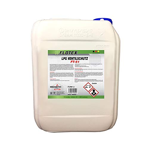 Flotex Permanent LPG Ventilschutz, 5L Additiv Gas Ventil Schutz