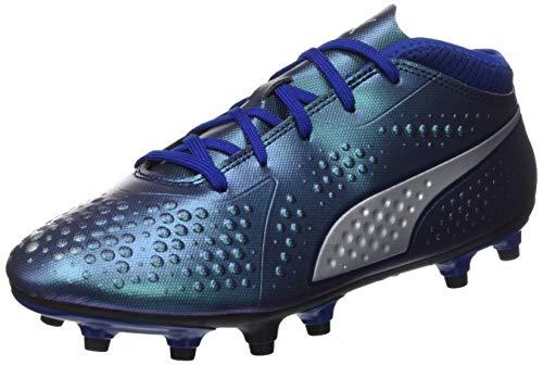 Puma - One 4 Syn FG Jr, Zapatillas de Fútbol Unisex Niños, Azul (Sodalite Blue-Puma Silver-Peacoat 03), 38 EU