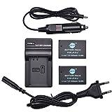 DSTE 2pcs Batería + Cargador de Batería USB Compatible con Canon LP-E12 EOS M M2 100D M100 M200(M200Specs Rebel) SL1 Kiss X7