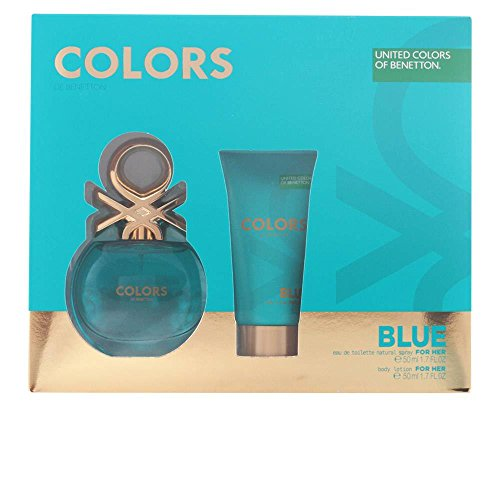 Benetton Colors Blue Set de Agua de Colonia y Loción Corporal - 100 ml