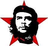 Michael & Rene Pflüger Barmstedt - Premium Aufkleber - 15x15 cm - Che Guevara auf roter Stern Kuba Revulution Sticker Auto Motorrad Fahrrad Bike