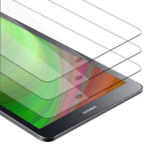 """Cadorabo 3X Panzer Folie kompatibel mit Samsung Galaxy Tab S2 (9.7\"""" Zoll) SM-T815N / T813N / T819N - Schutzfolie in KRISTALL KLAR - 3er Pack Gehärtetes Display-Schutzglas in 9H Härte mit 3D Touch"""