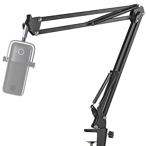 Microphone Boom Arm Stand - Professional Studio Mic Stand for Microphones, Swivel Mount Compatible with Elgato Wave:1 Microphone by YOUSHARES