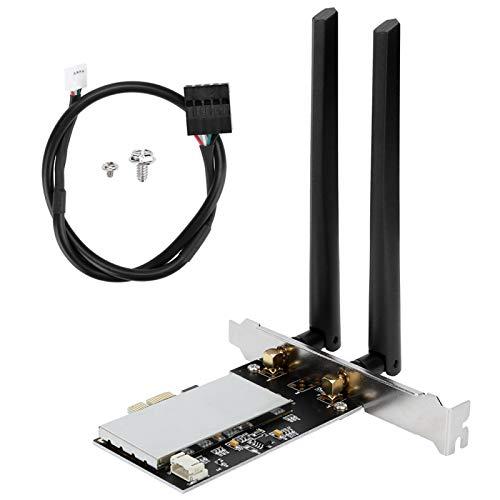 Adaptador-Adaptador de Tarjeta WiFi Tarjeta inalámbrica PCIE WiFi con 2 Antenas Accesorios de computadora BCM94360CS2