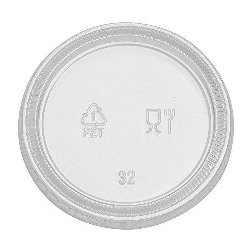Dixie 4 or 5 oz., Plastic Portion Cup Lid by GP PRO (Georgia-Pacific), PL40CLEAR, Clear, 2,400 Count (Case of 24 Sleeves, 100 Lids Per Sleeve)