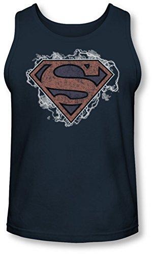 Superman - - Ciel orageux Supes Tank-Top pour hommes, XX-Large, Navy