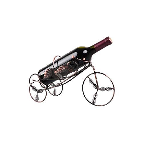 NXYJD Iron & Wine Rack vino soportes for botellas de vino del metal rojo en forma de rack-triciclo sostenedor del vino de almacenamiento de botellas Inicio cerveza de la barra de vino estante de exhib