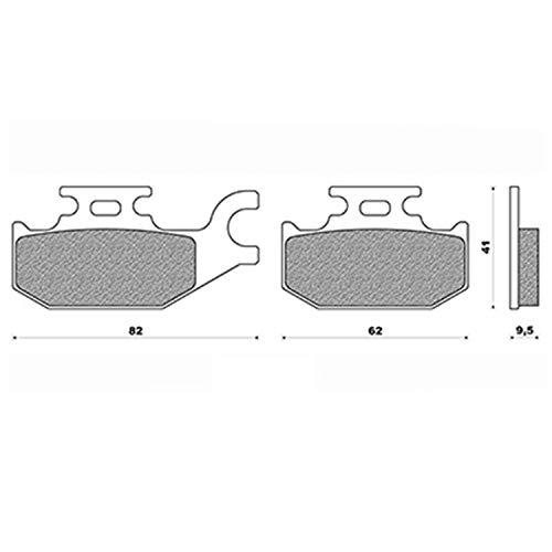 NEWFREN Plaquette Frein 77 AR Adapt. 125/200 Burgman 2007-2013 (pr)